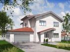 Проект двухэтажного жилого дома с террасами